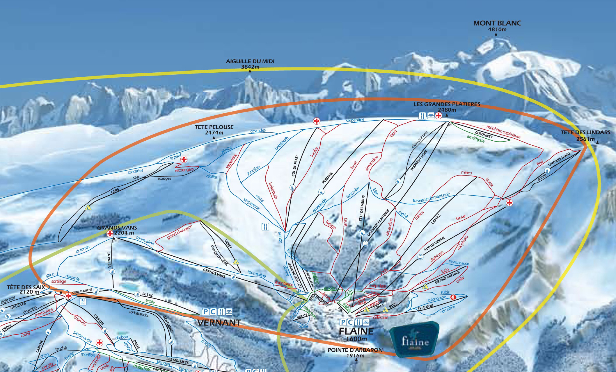 Flaine Ski Map - skiflicks.com